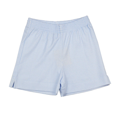 Luigi Knit Windowpane Check Shorts