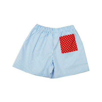 James & Lottie Conrad Shorts | Blue Stripe with Stars  Edit alt text