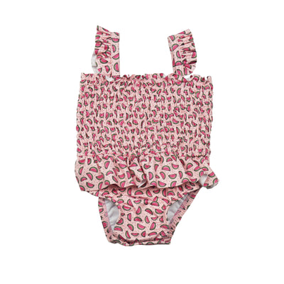 James & Lottie Willa Smocked Swimsuit | Watermelon  Edit alt text