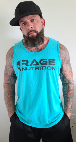 Rage Nutrition 2nd Edition Men's Tank Teal