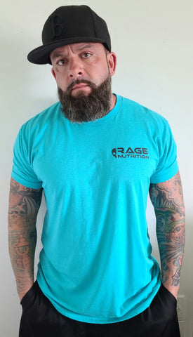 Rage Nutrition 2nd Edition Men's T-Shirt Teal