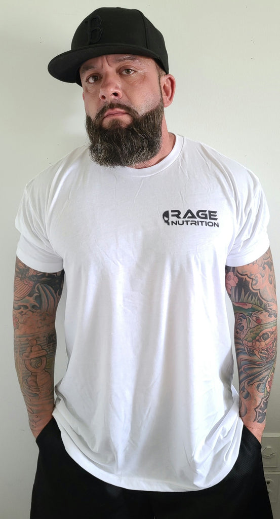Rage Nutrition 2nd Edition Men's T-Shirt White