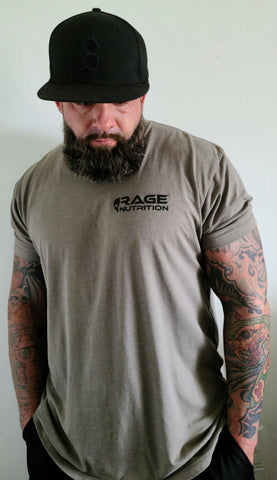 Rage Nutrition 2nd Edition Men's T-Shirt Light Olive
