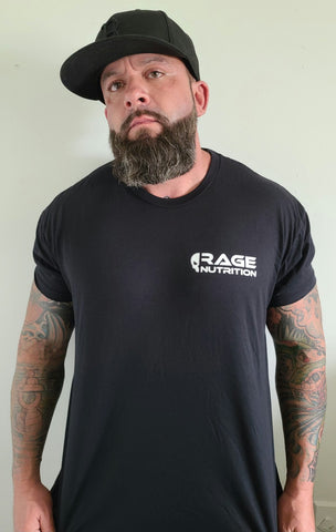 Rage Nutrition 2nd Edition Men's T-Shirt Black