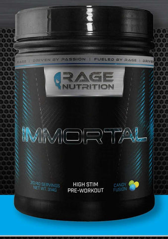 Immortal high stim preworkout rocket pop sports nutrition