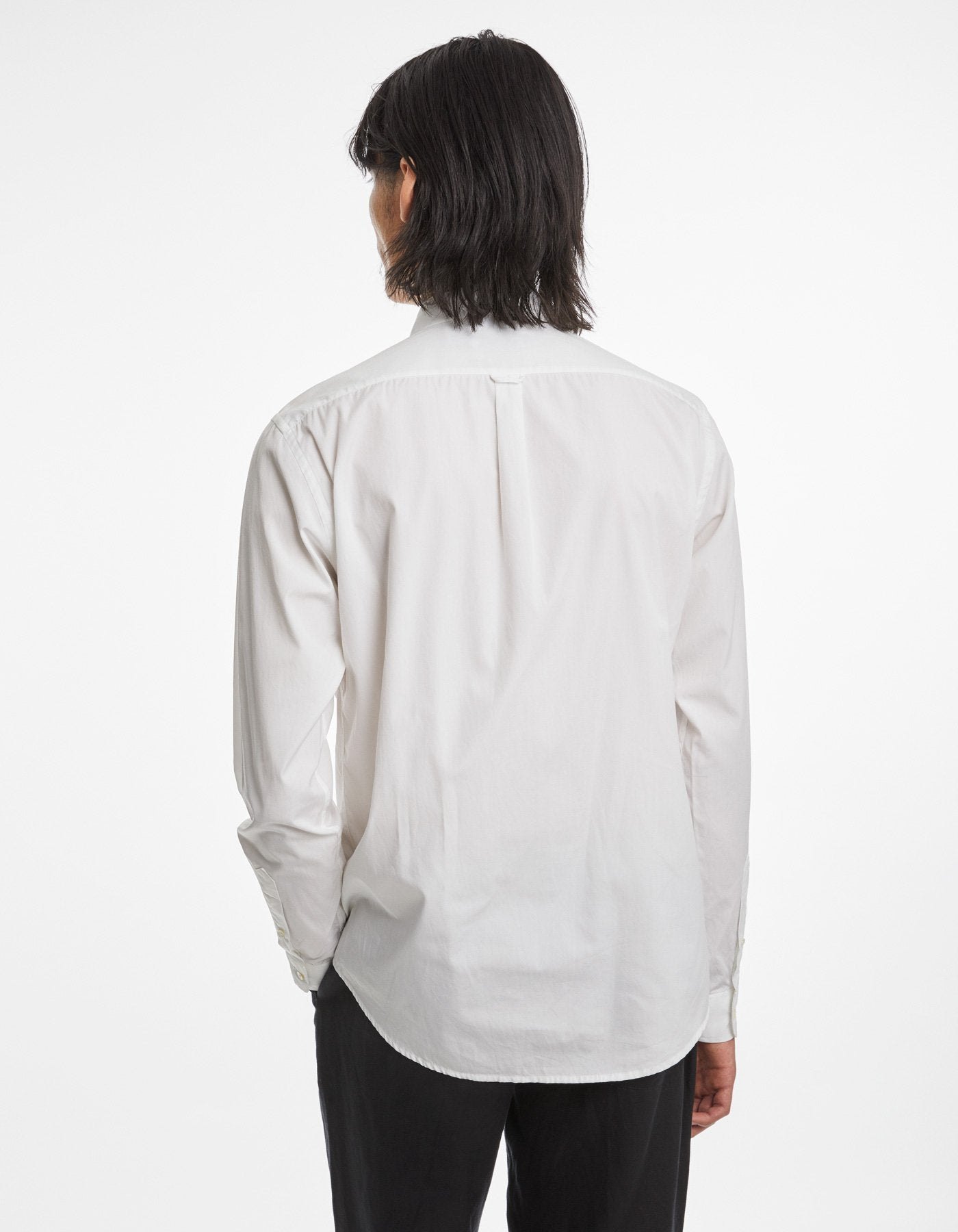 Shirt poplin one white