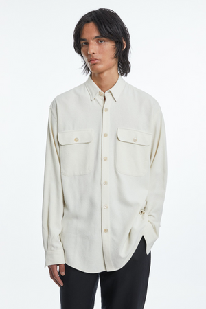Shirt boxy raw silk