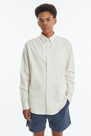 Shirt BD natural twill off white