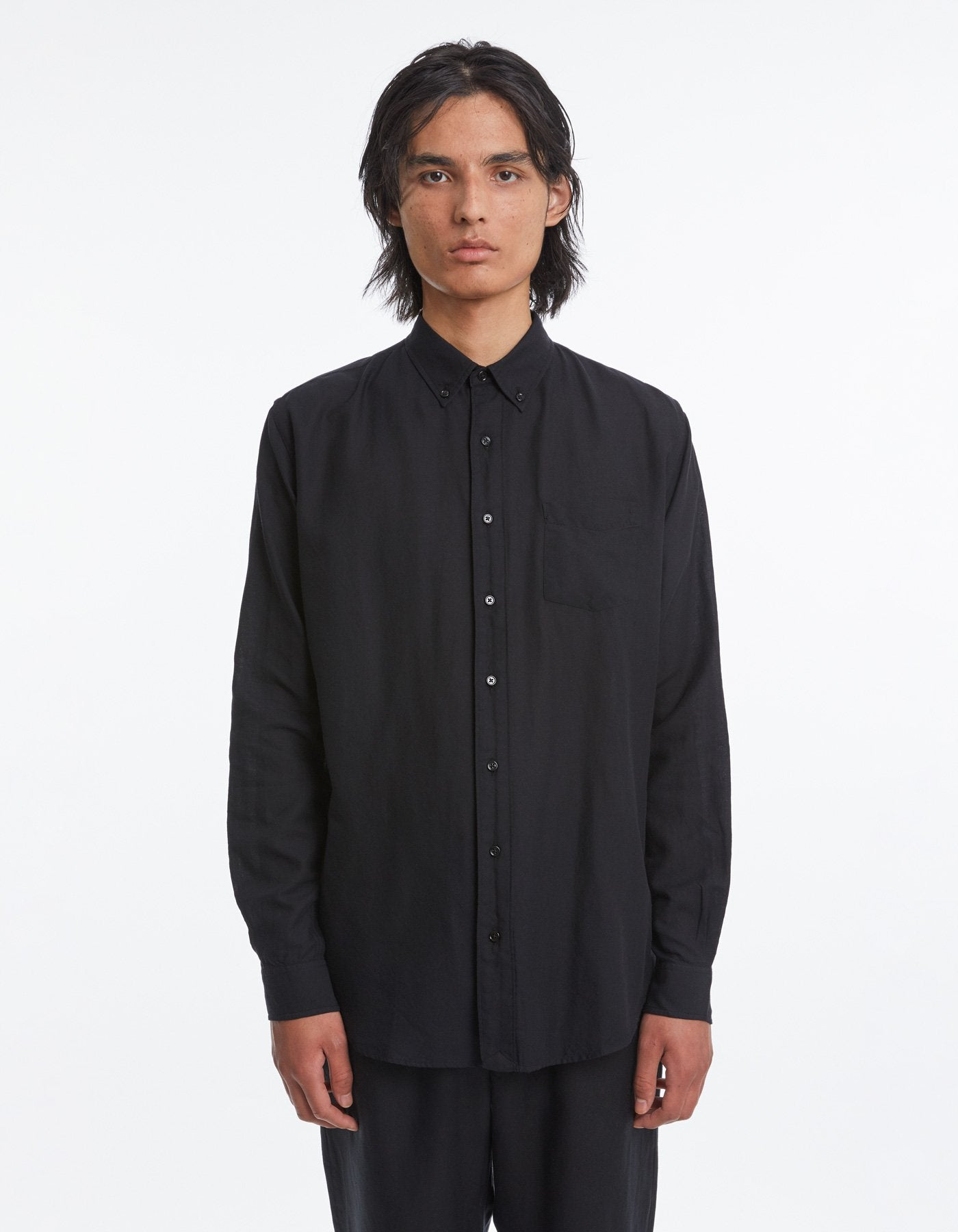 Shirt BD light twill black