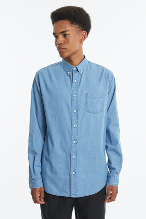Shirt BD summer denim bleached blue