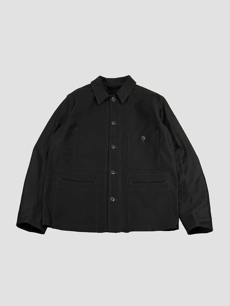 Labour jacket in black by Lemaire