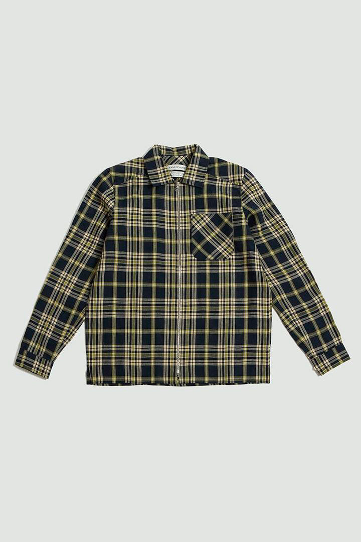 Delon overshirt blue check