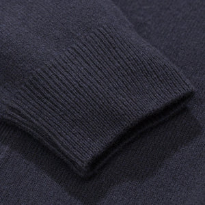 Adam lambswool sweater dark navy