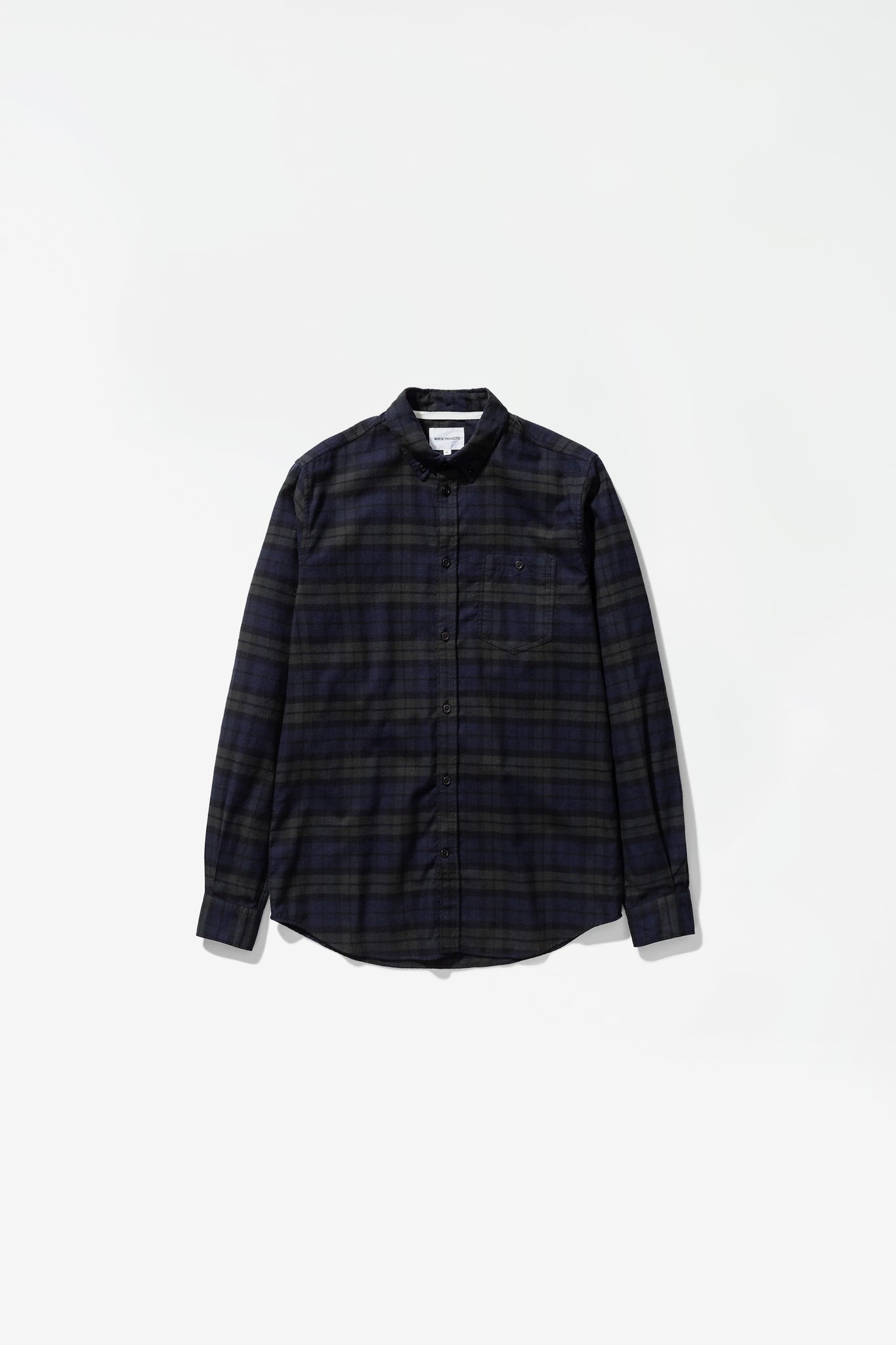 Anton brushed flannel check black watch check
