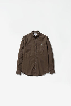 Anton brushed flannel dark green