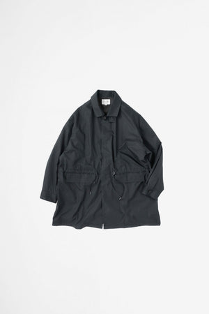 Ball collar coat ink black