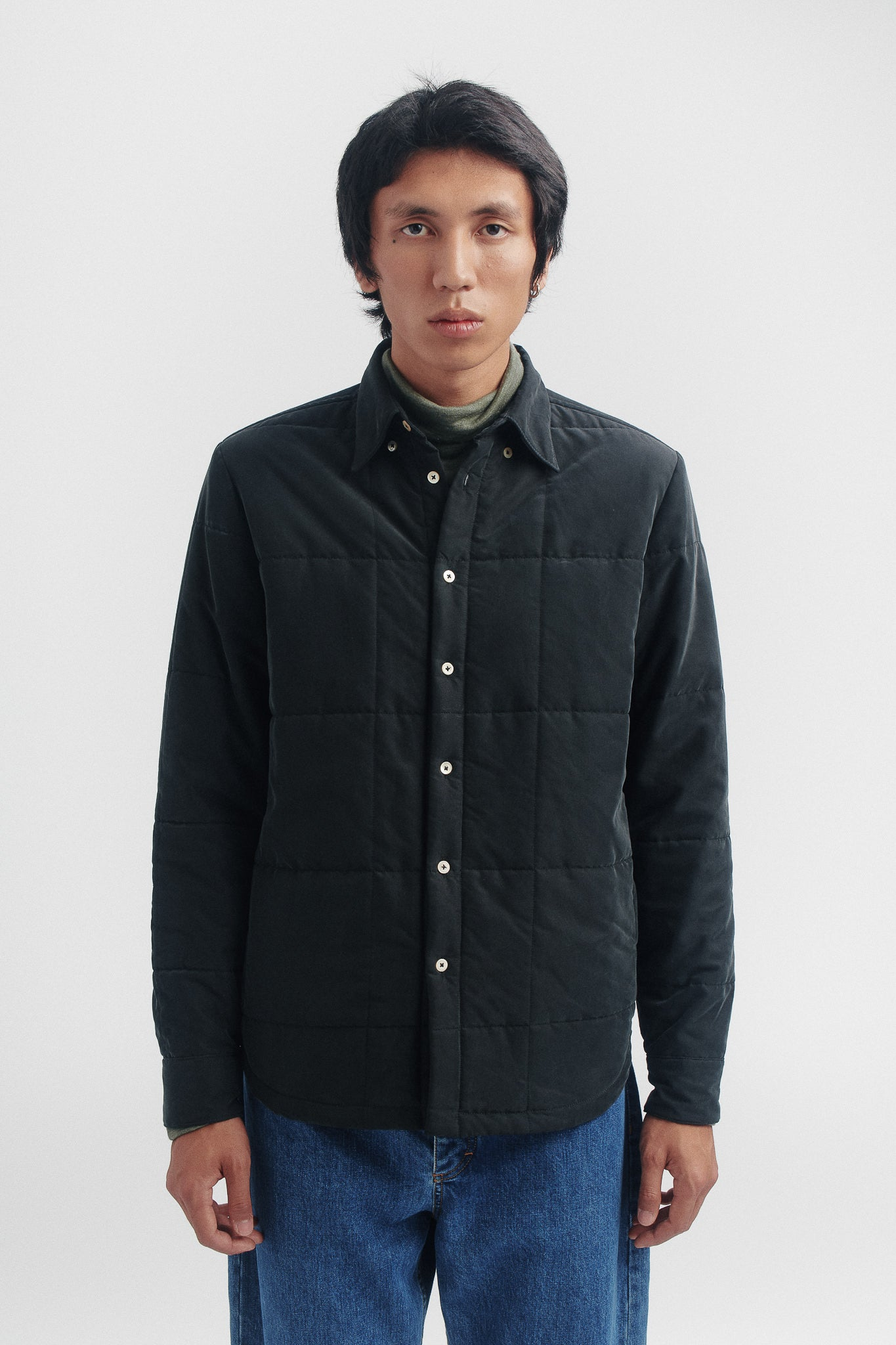 Barrel overshirt blue graphite