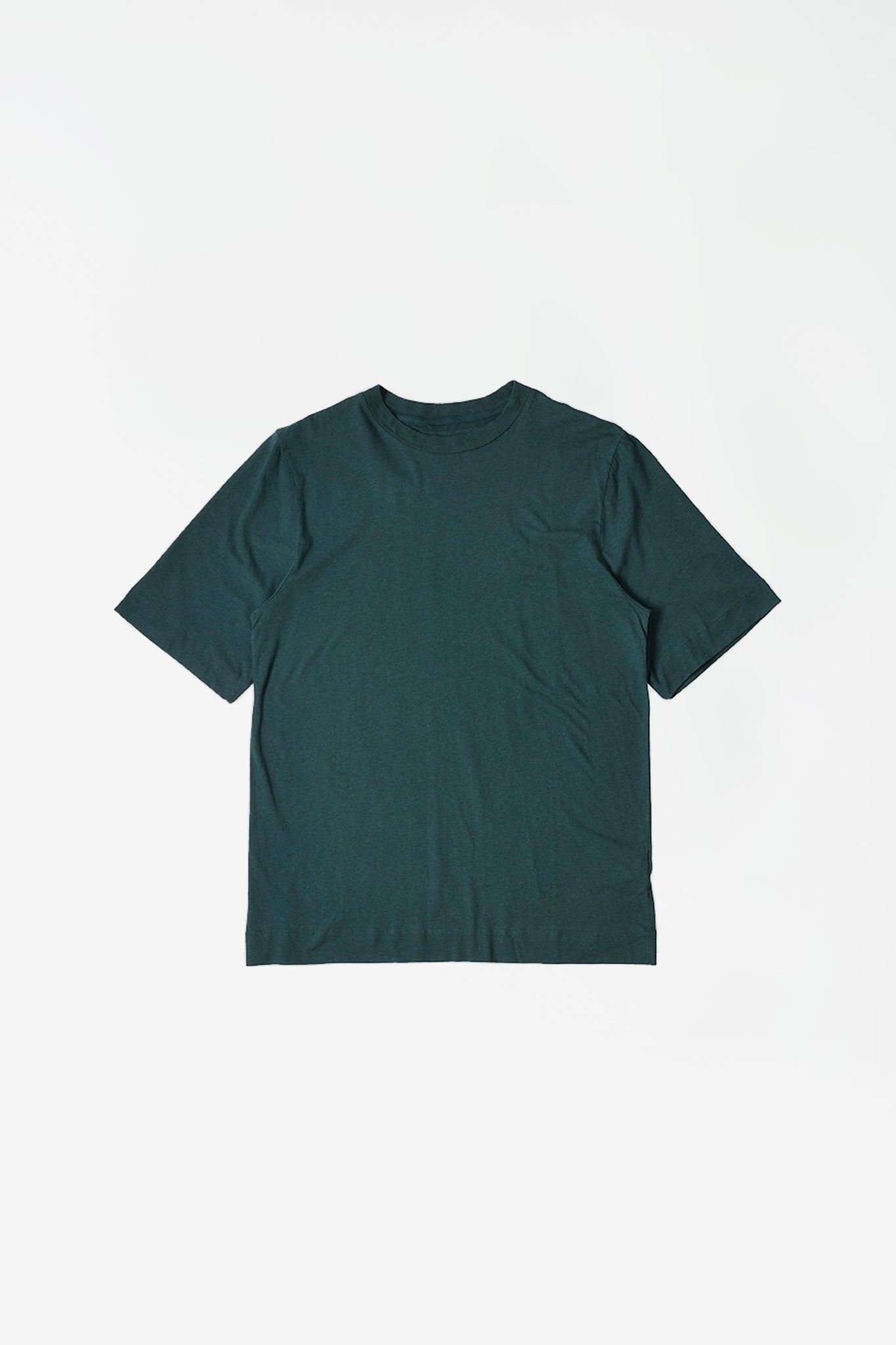Basic T-shirt cotton linen green