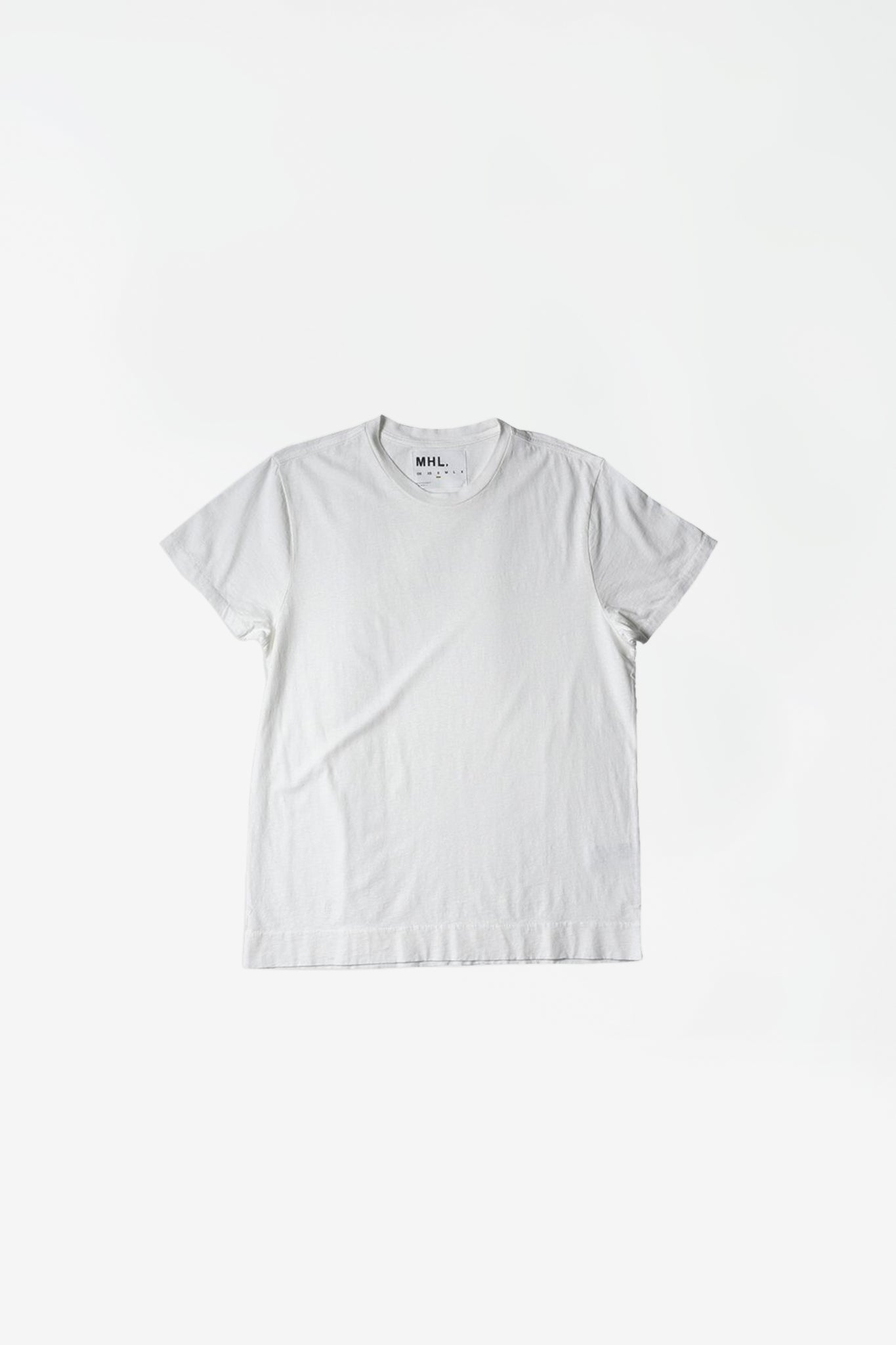 Basic t-shirt cotton linen jersey white