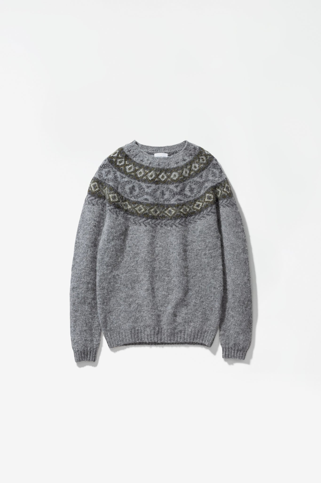 Birnir Fairisle light grey melange