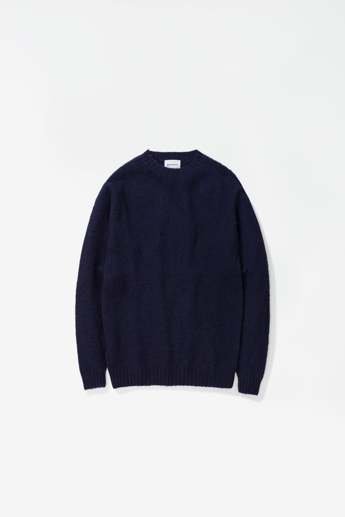 Birnir brushed lambswool dark navy