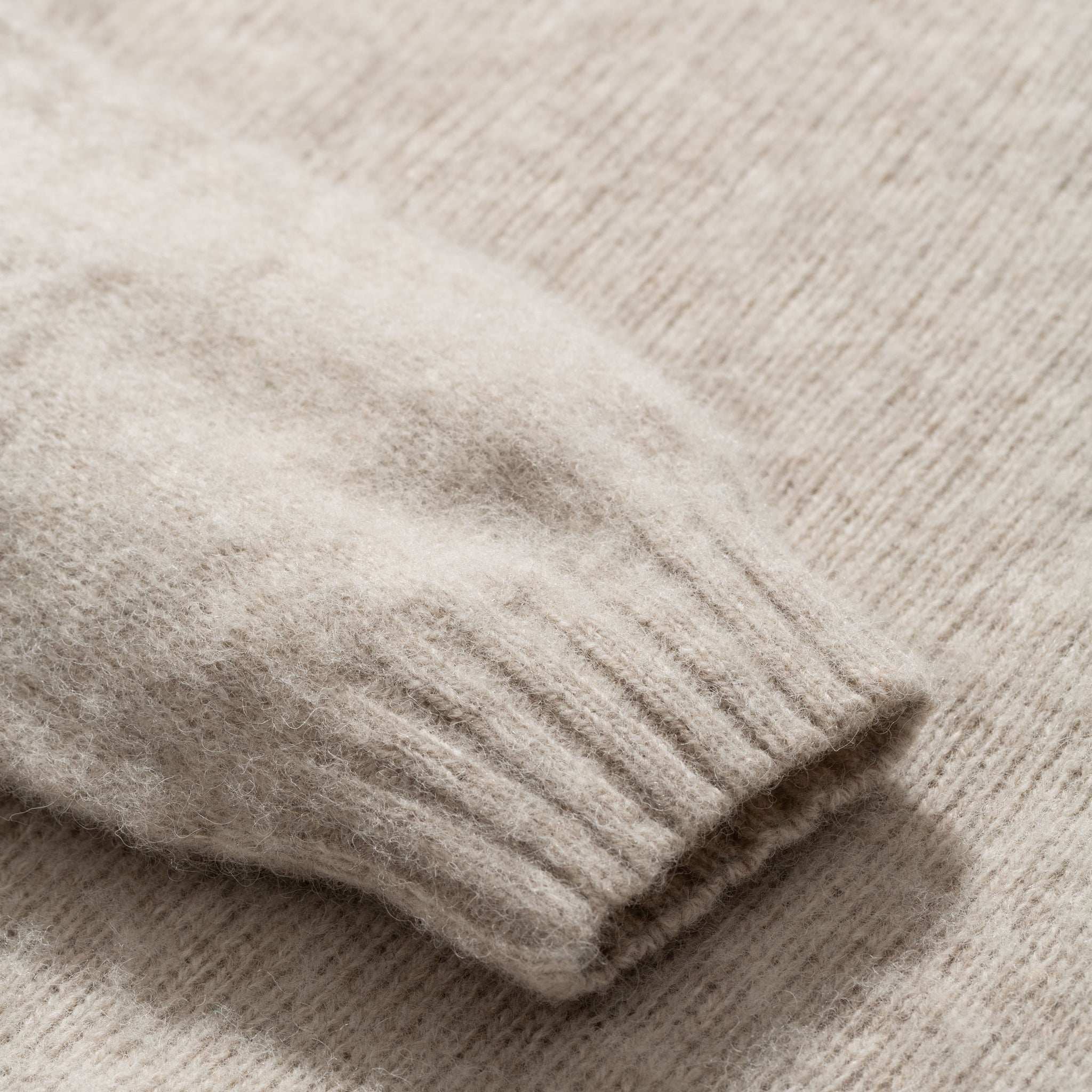 Birnir brushed lambswool oatmeal