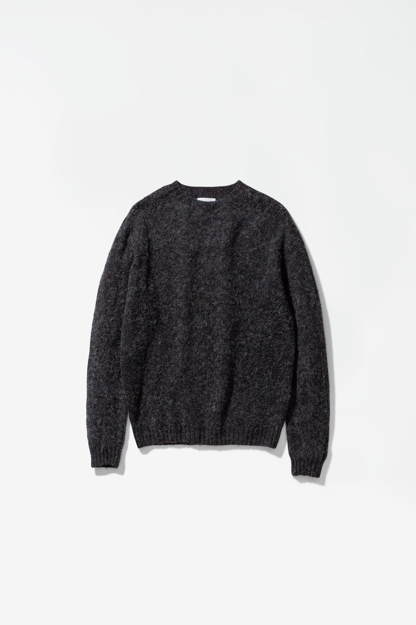 Birnir brushed lambswool charcoal melange