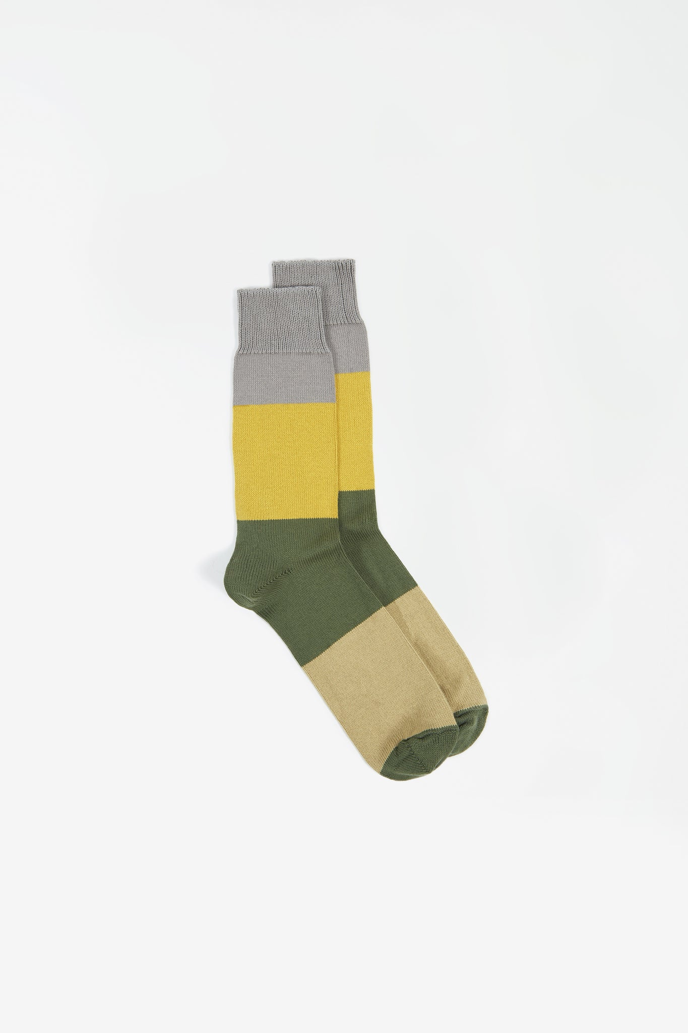 Bold stripe sock grey/gold