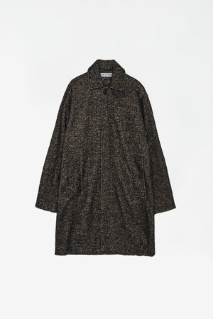Car coat wool/alpaca black and beige