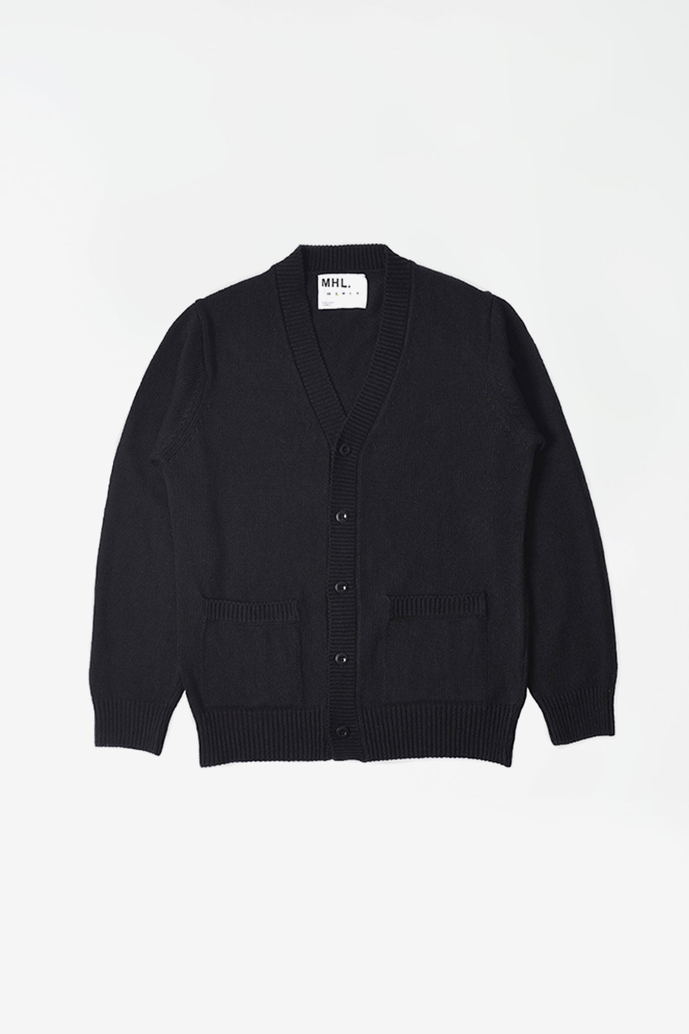 Cardigan linen cotton black