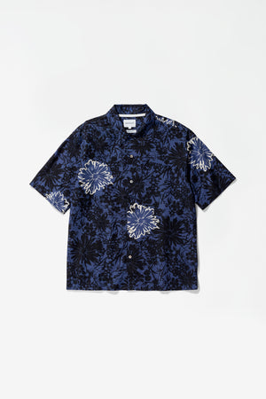 Carsten flower print twilight blue