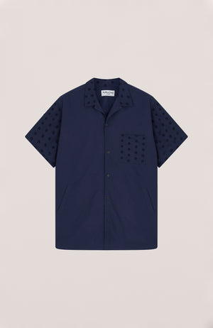 Cats Meow Shirt Navy