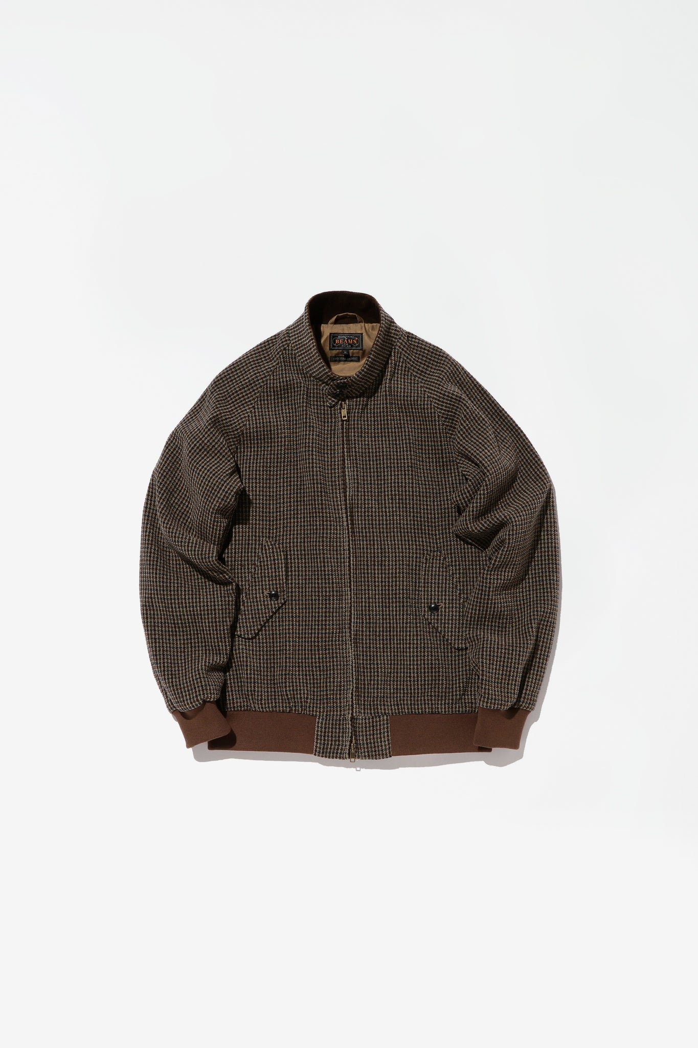 Check Harrington jacket brown