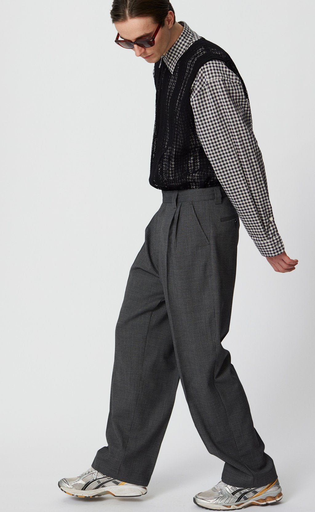Classic trousers grey stripe