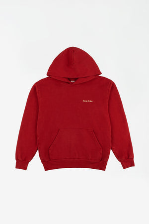 Classic Logo Hoodie red/gold sticht