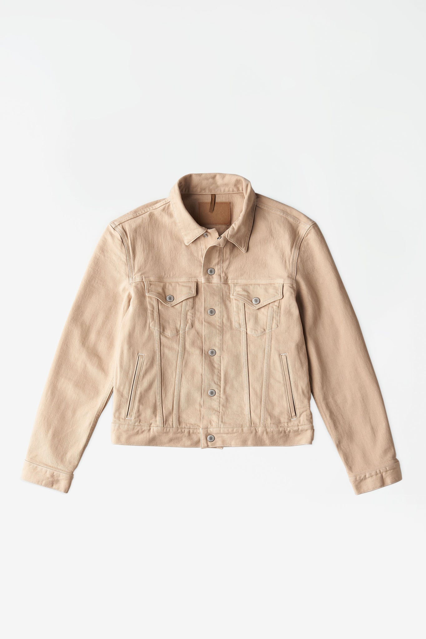 Classic denim jacket beige