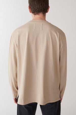 Classic long sleeved t-shirt beige