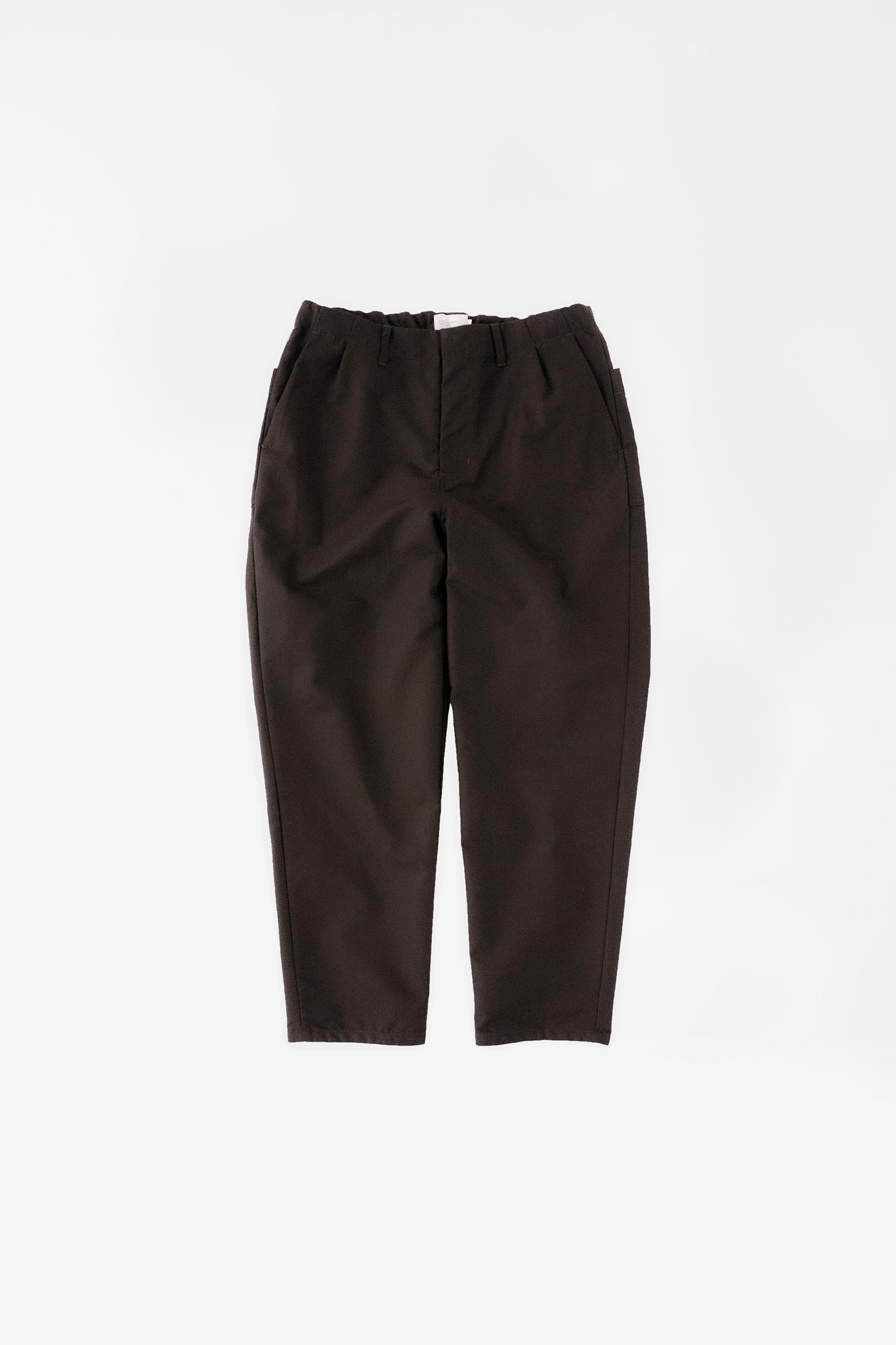 Cloth tapered pants dark brown