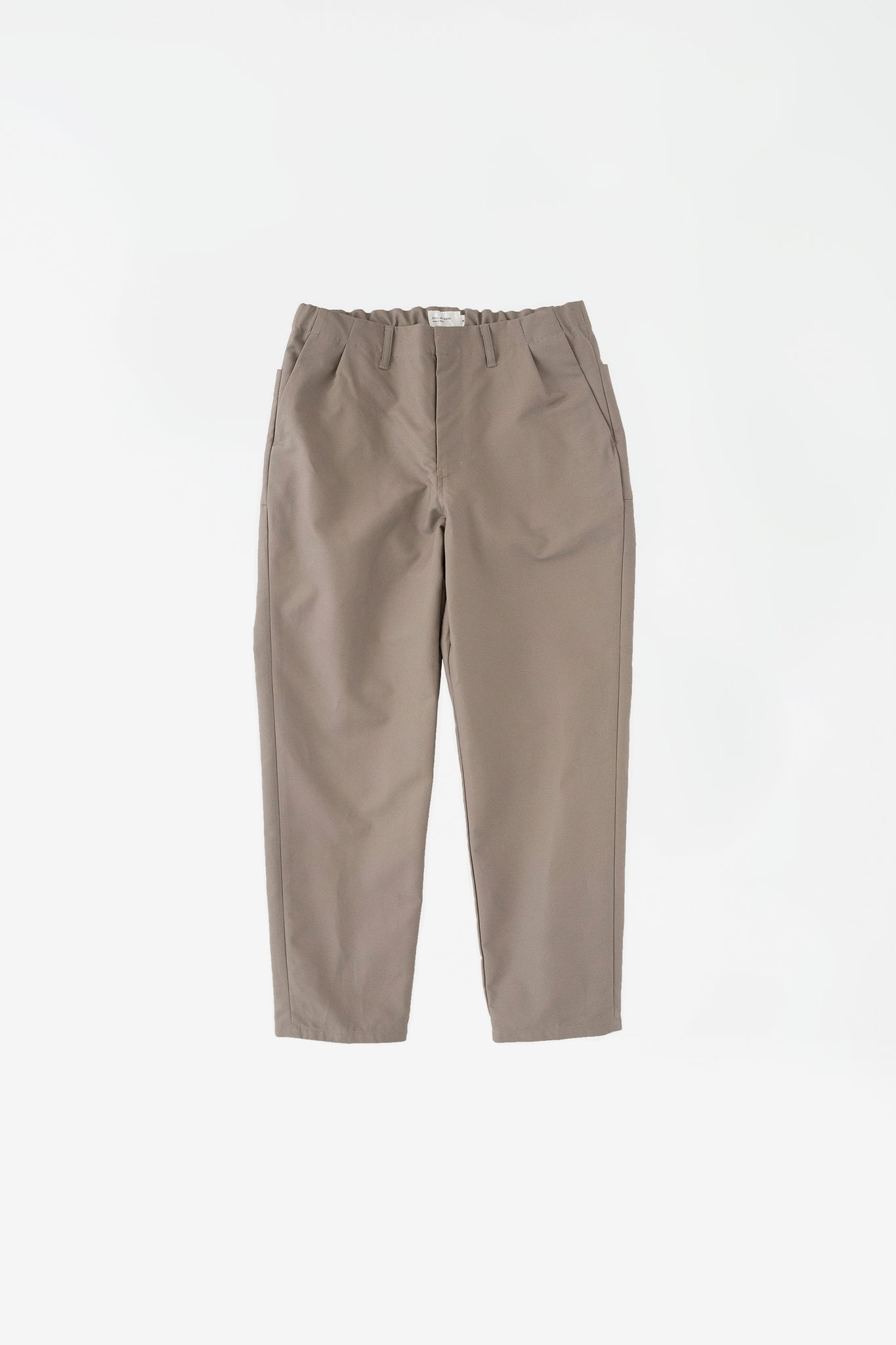 Cloth tapered pants greige