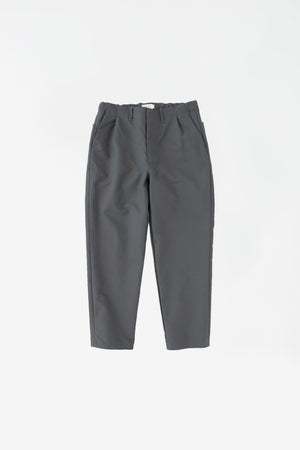 Cloth tapered pants slate grey