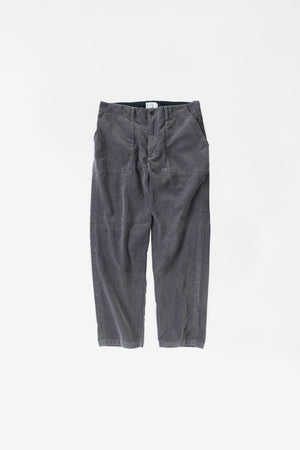 Corduroy baker pants smoke grey