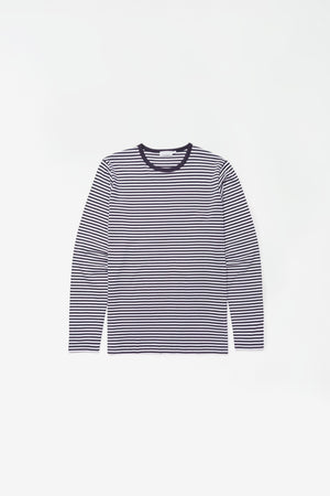 Cotton long sleeve t-shirt white/navy