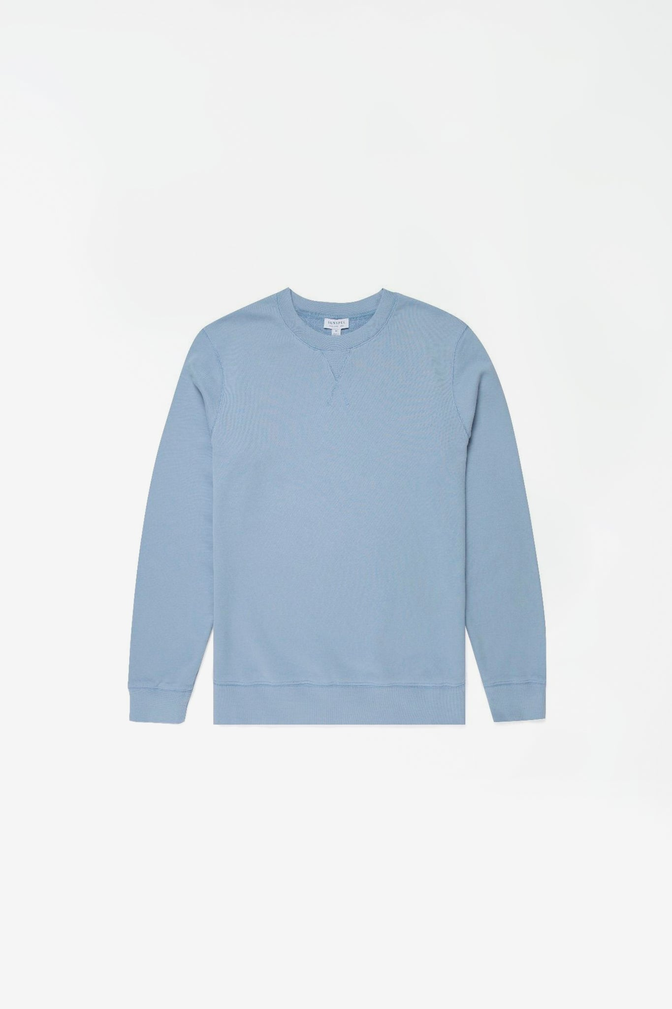 Cotton loopback sweatshirt washed denim