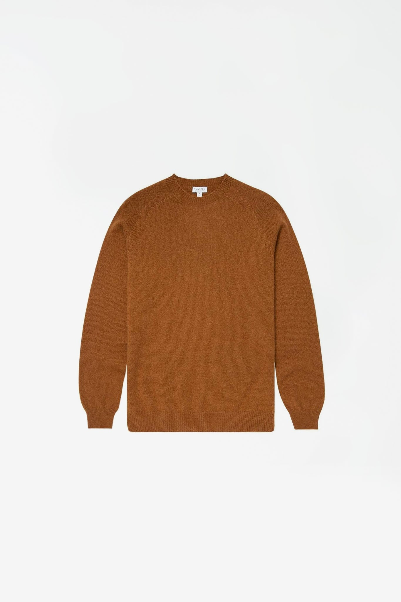 Crew neck sweater nutmeg