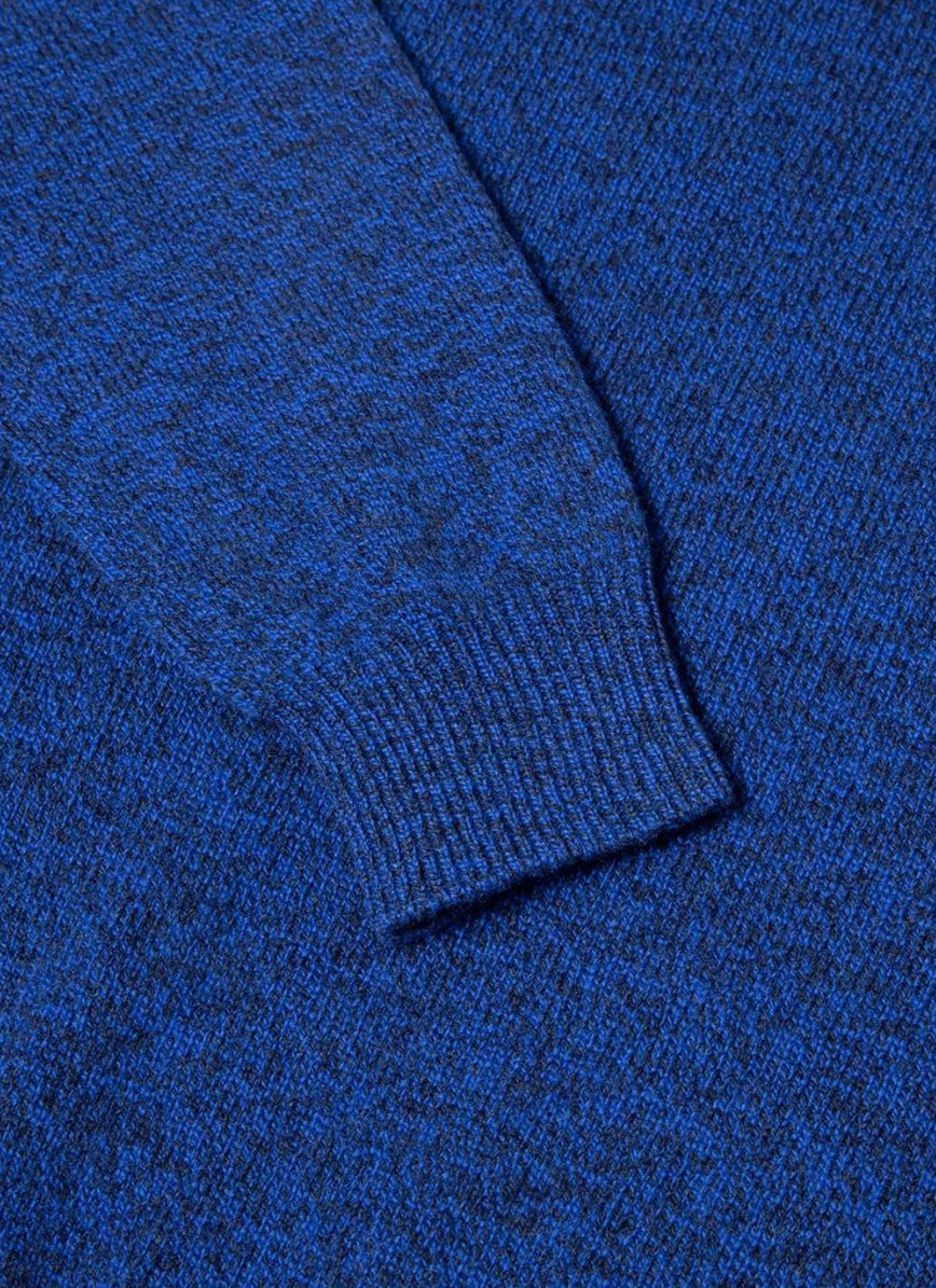 Crew neck sweater yves blue mouline