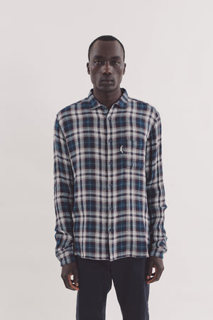 Curtis shirt navy check