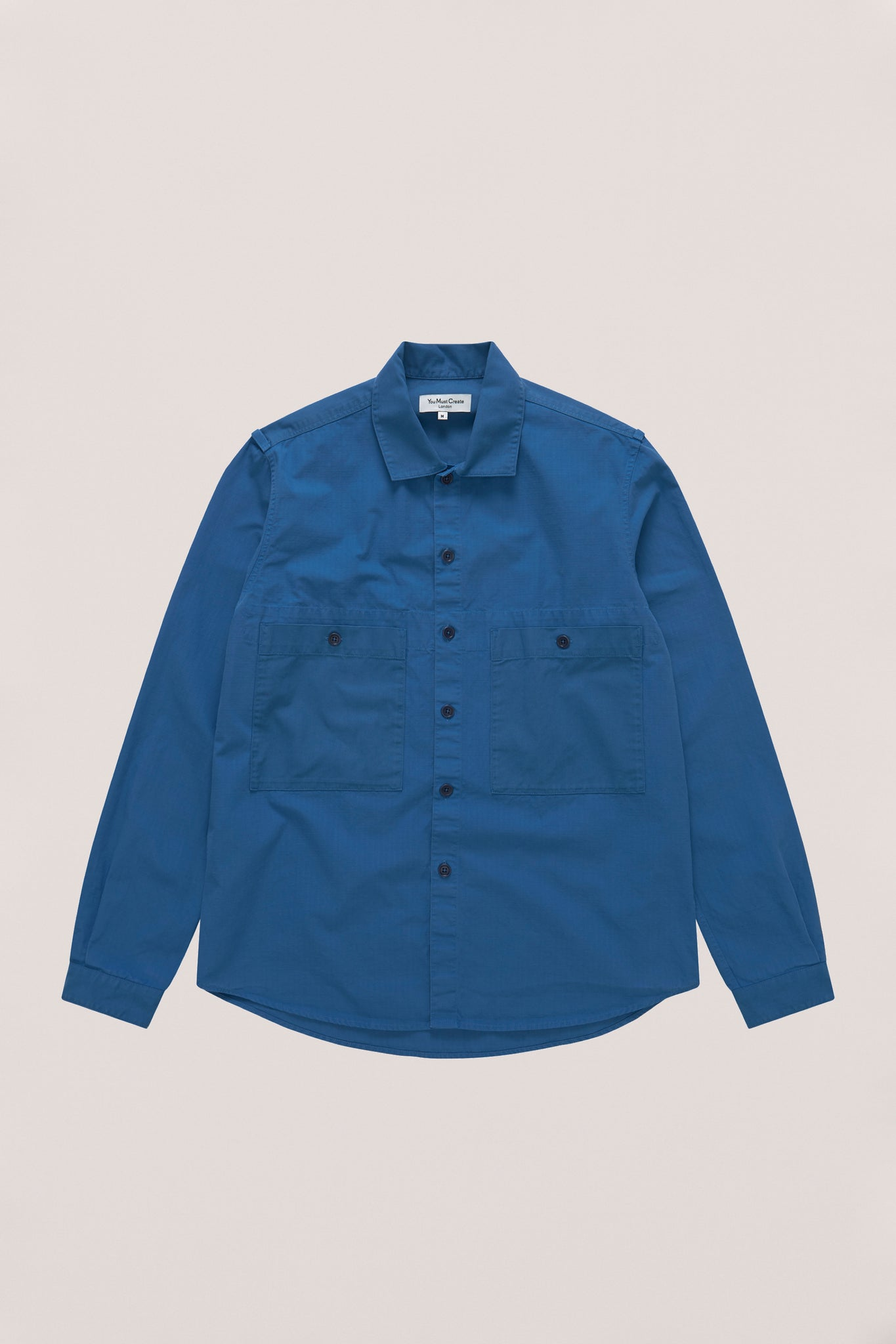 Doc Savage shirt blue