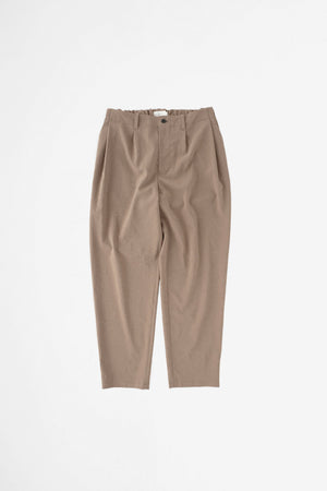 Deep tuck easy pants beige