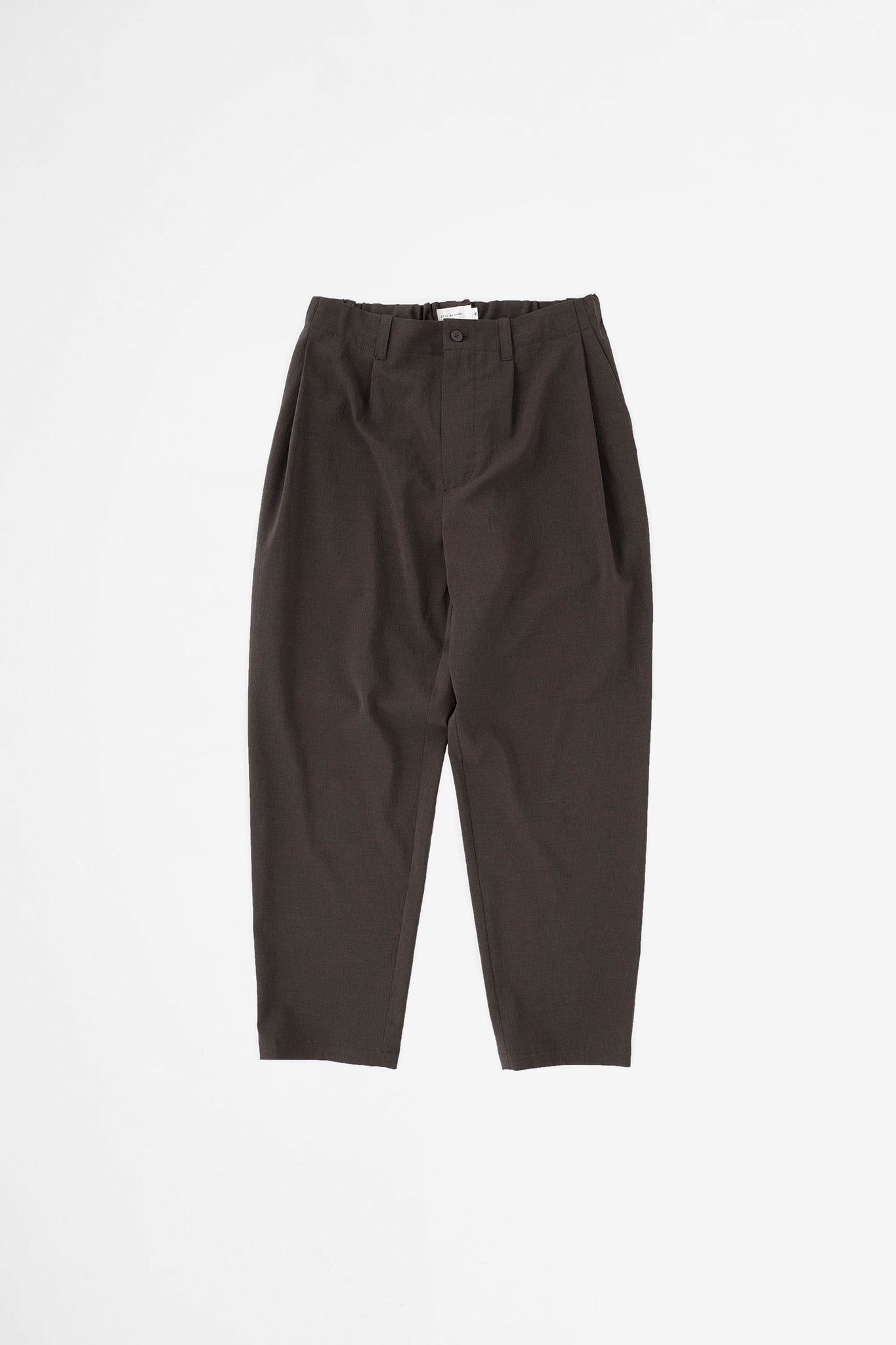 Deep tuck easy pants brown