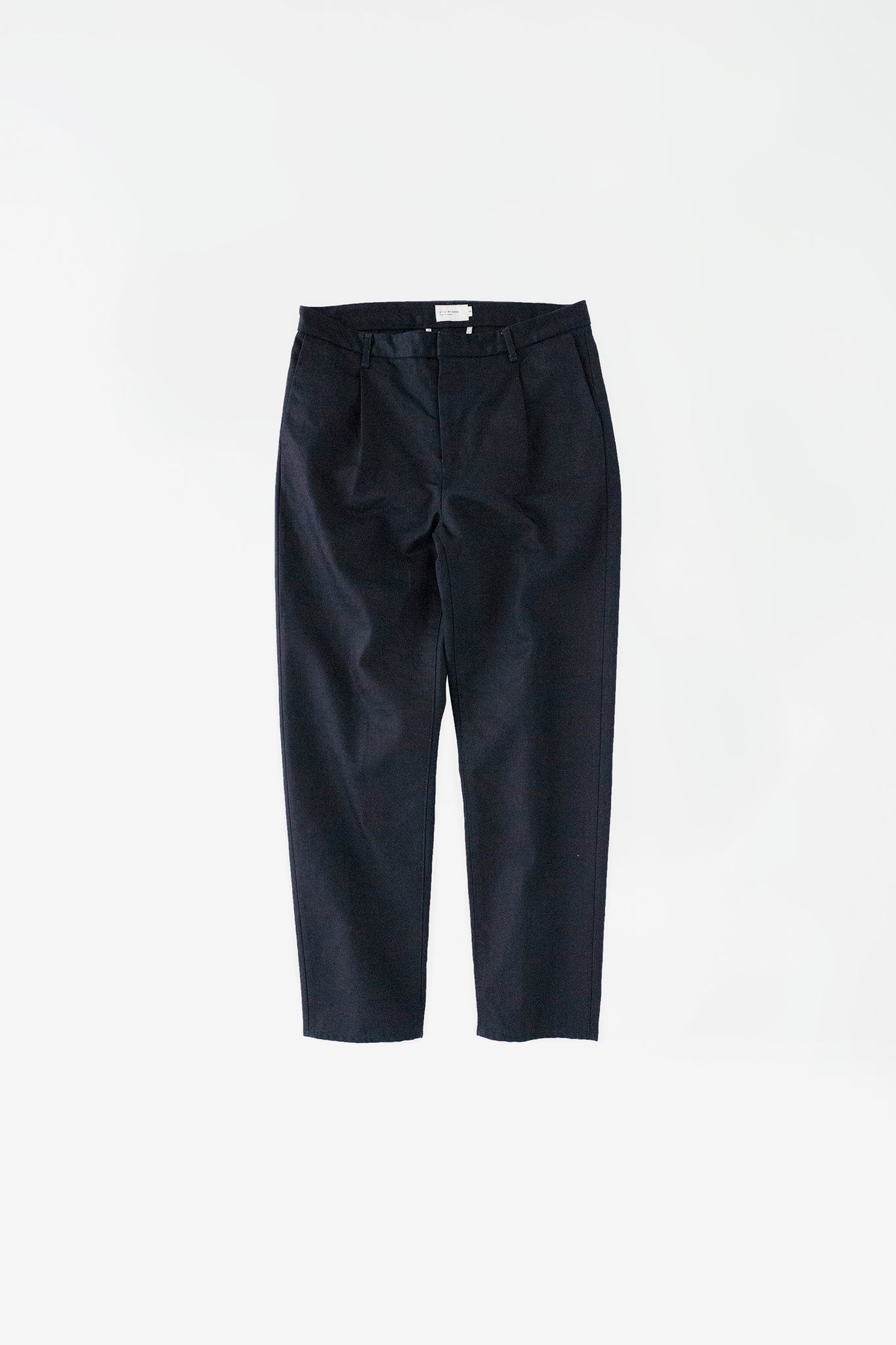 Denim tapered pants dark navy